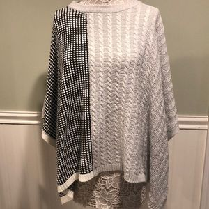 Vince Camuto Cotton Blend Sweater Poncho, BNWOT
